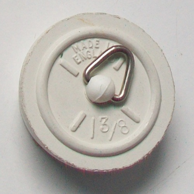 1 3/8 inch White Rubber Plug